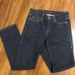 Levi straight leg dark denim jeans